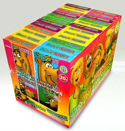 CAN02 SCOOBY-DOO! CANDY STICKS x48  P.M. 20p